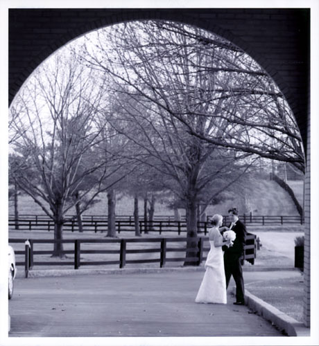 Bride and Groom Wedding at Fasig Tipton