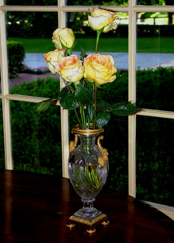 An arrangement of ambiance roses by Chambliss Design