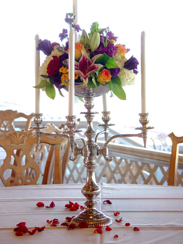 Wedding centerpiece design by Chambliss Design