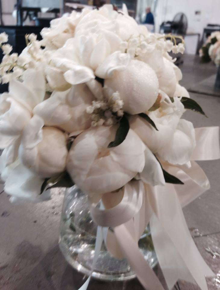 Luxurious Bridal Bridal Bouquet - Peonies, 12 gardenias, and 80 Lily of the Valley.