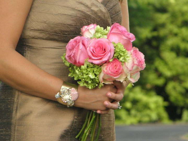 Bridesmaids Bouquet- flowers of roses and hydrangea