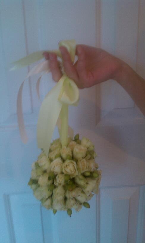 Bridesmaids pomander of spray roses