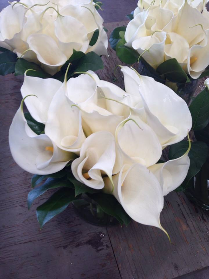 Calla lily Wedding centerpieces