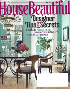 My flowers featured in House Beautiful, May 2013