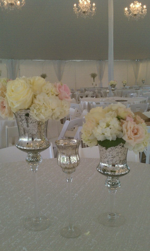 Soft and lovely centerpieces at the Headley-Whitney Museum