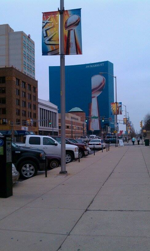 Super Bowl 2012 was one of the top five designers chosen from Indianapolis to work on the Super Bowl Event flowers