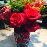 Colorful spring Flower Arrangement